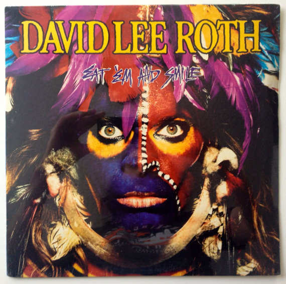 David Lee Roth Eat Em And Smile Sealed Lp Vinyl Record Etsy David Lee Roth David Lee Album Cover Art