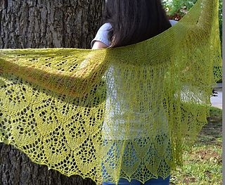 A Sister Pattern To The Popular Marigold Stole, This Design Was Inspired By  The Vividly