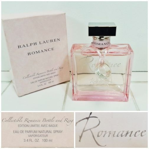 Ralph Lauren Romance 100ml - Collectable Botle & Ring - Christmas Gift FREE P&P