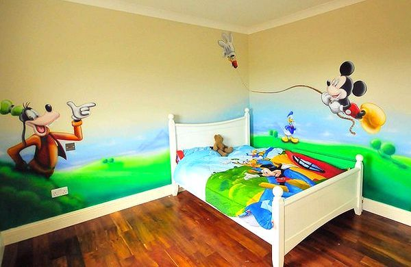 decorative artistic painting in kids room - Colour Painting For Kids