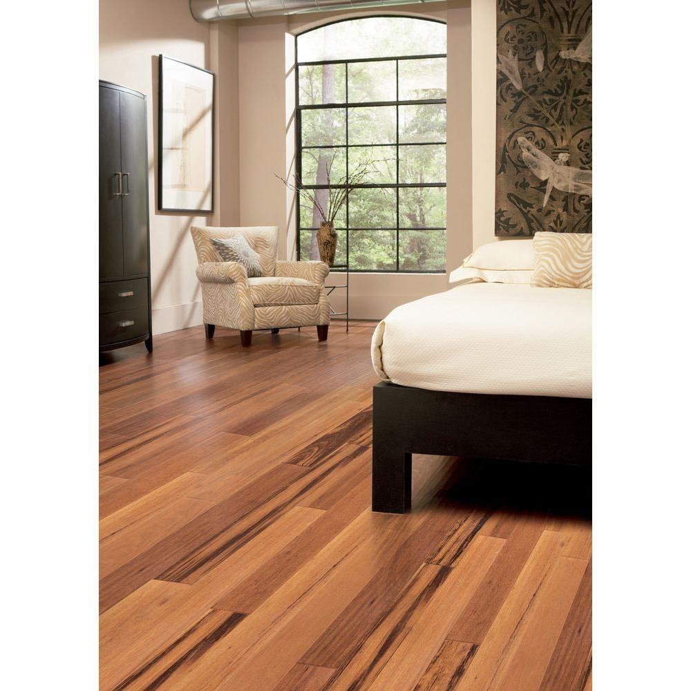Home Legend Tigerwood 3 8 In Thick X 5 Wide Varying Engineered Hardwood Flooringlaminate