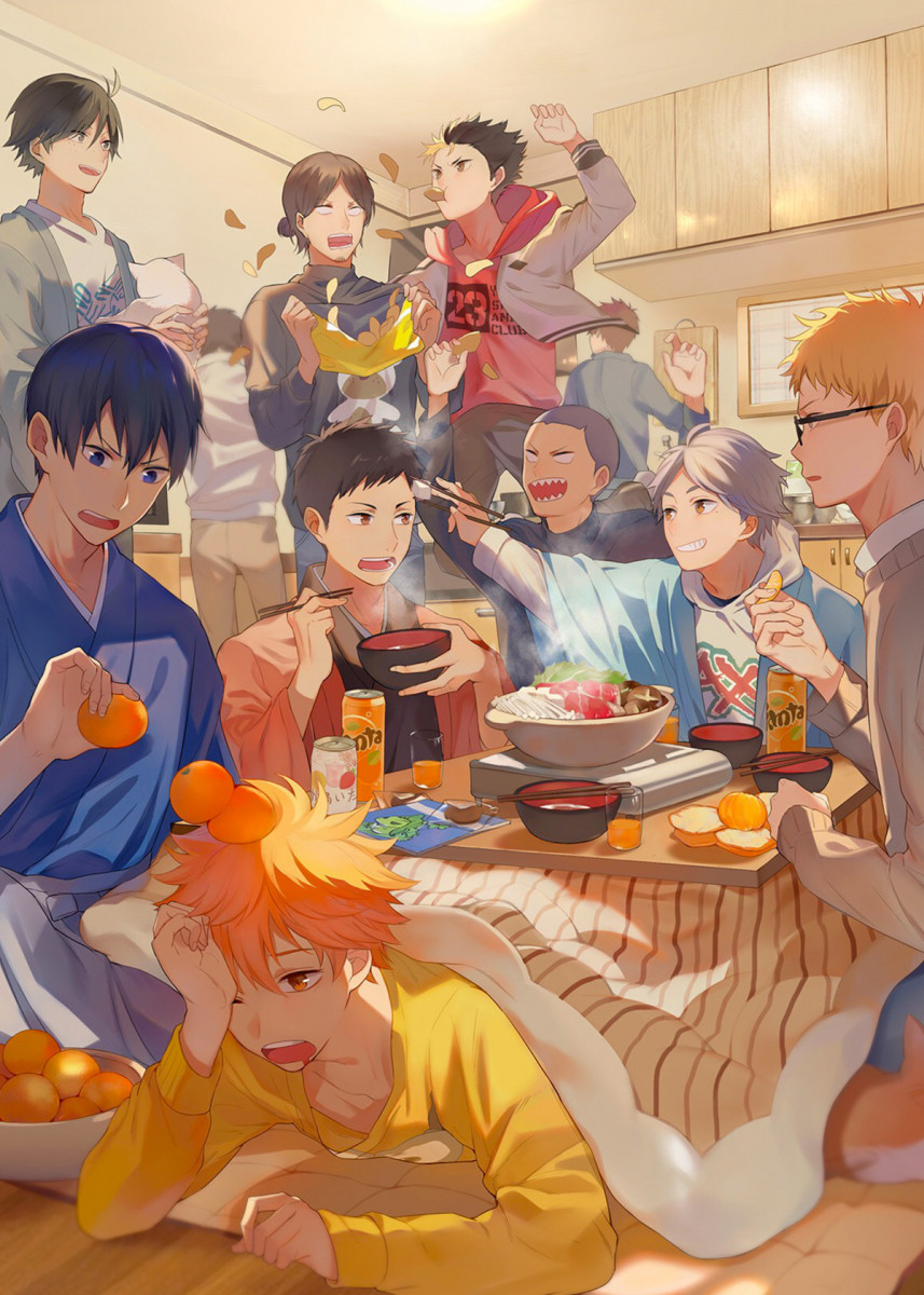 Photo of 'Karasuno Party' Poster Print by Anime Lover | Displate