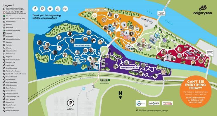Calgary Zoo Map Zoo Map Map Zoo