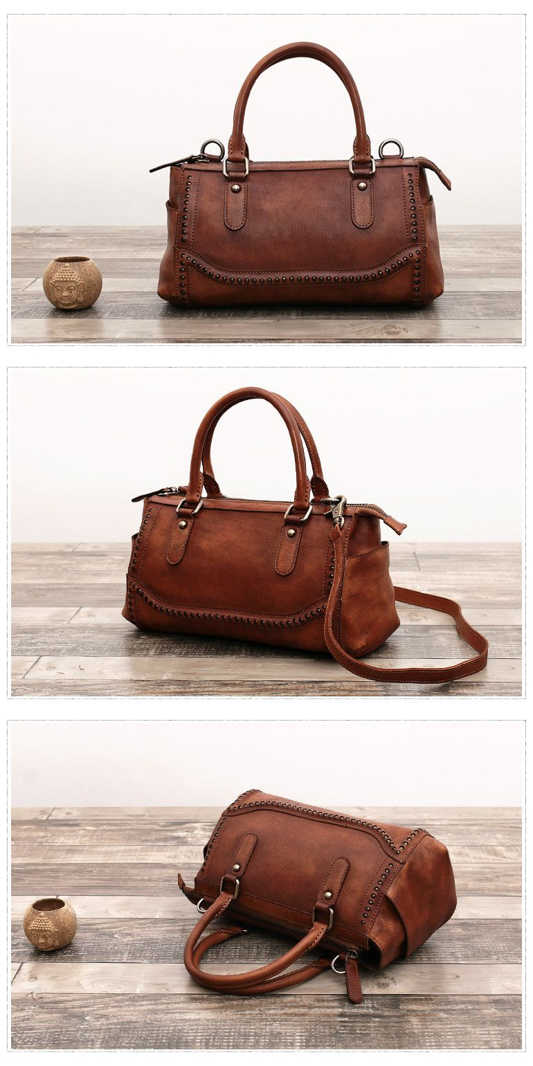 Handmade Full Grain Leather Tote Bag Women Shopping Messenger Bag We use  genuine cow leather, quality hardware to make the bag as good as it is. b1790f7652