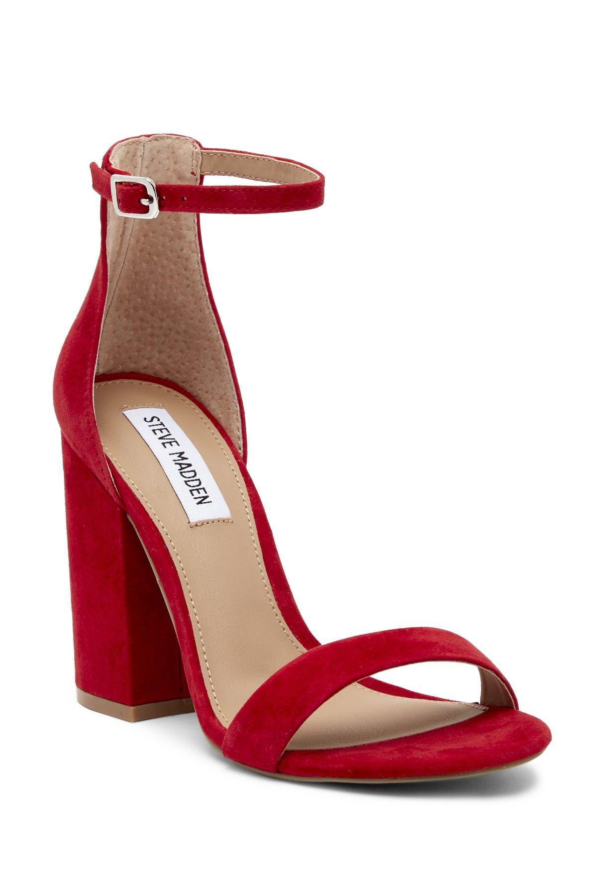 58403f5b455 Steve Madden Frame Ankle Strap Block Heel Sandal | Products | Ankle ...