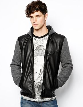 River Island Quilted Sleeve PU Bomber Jacket | Clothes | Pinterest ...