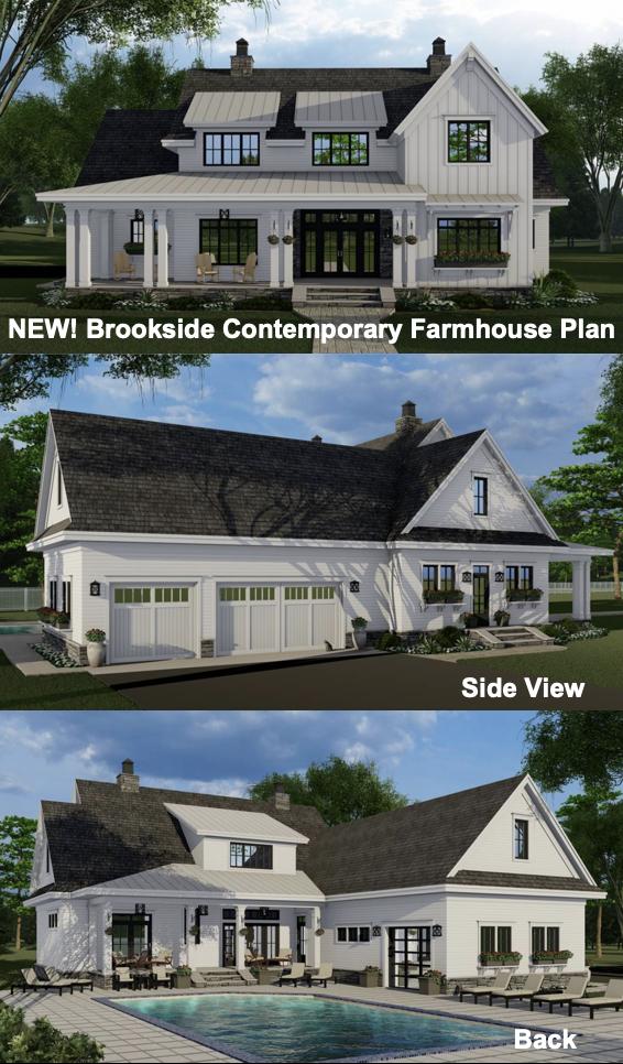 Contemporary Farm House Style House Plan 7811 Brookside Modern Farmhouse Plans Farmhouse Plans Contemporary Farmhouse