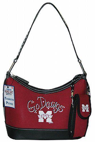 f2181f4e4f NCAA Mississippi State Bulldogs Ladies Oval Saddle Purse
