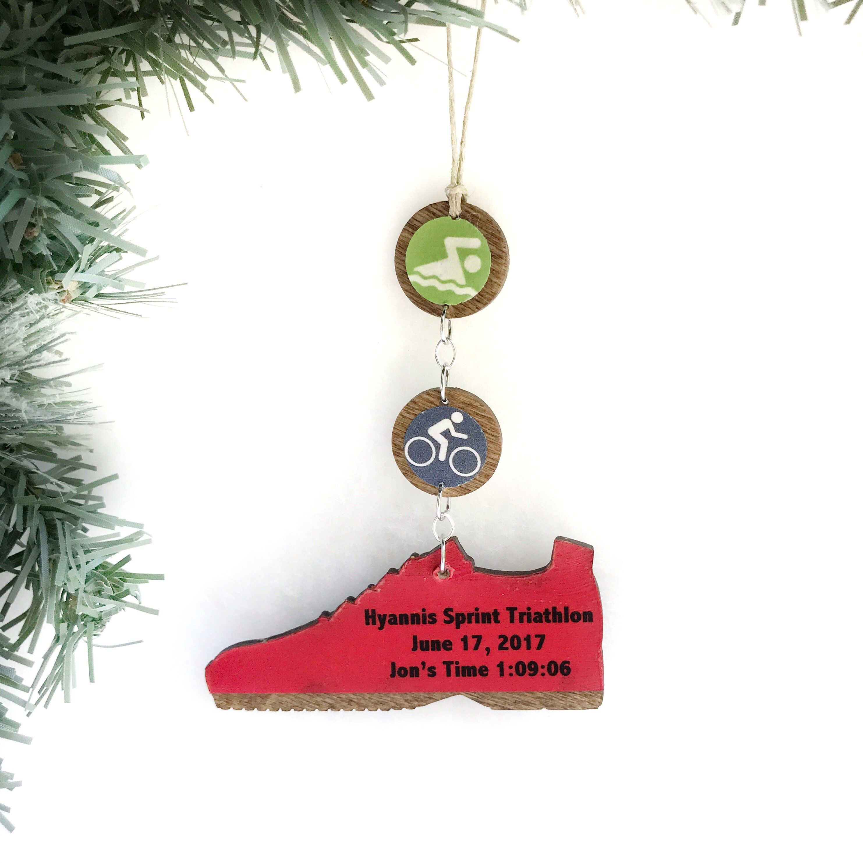 Triathlon Ornament, Swim Bike Run Ornament, Triathlon ...
