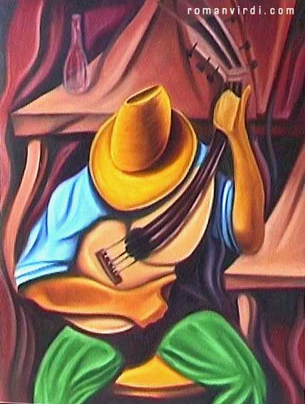 Cuban art.  I love the richness of this.  Sorry, I don't know the artist!  I'll find it, though and add it later!  This picture is organized with others in the Cuban Art Board.