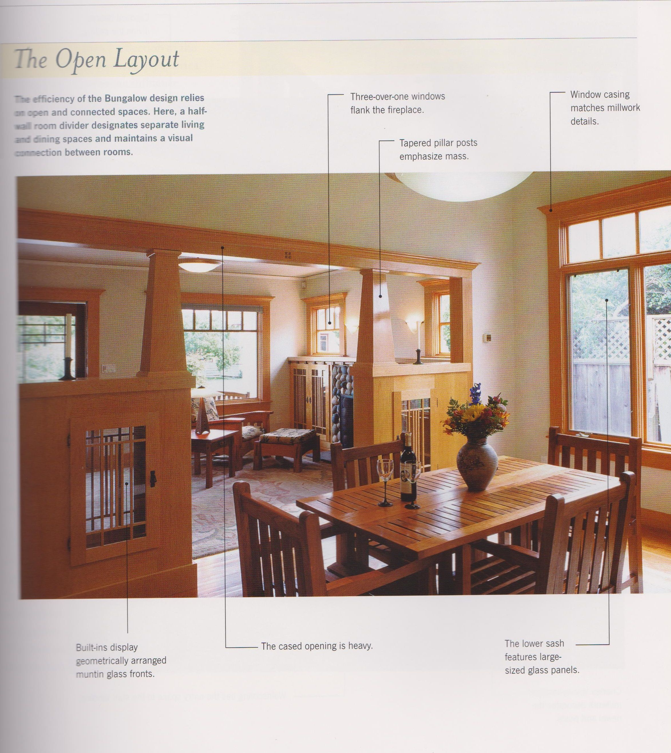 The Typical Open Layout Of The Craftsman Bungalow Note Windows Trim Cabinets Separa Craftsman Home Interiors Craftsman Interior Craftsman Bungalow Interior