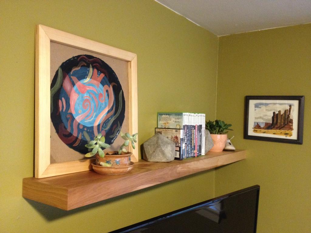 I made a sleek floating shelf | Shelves and DIY ideas