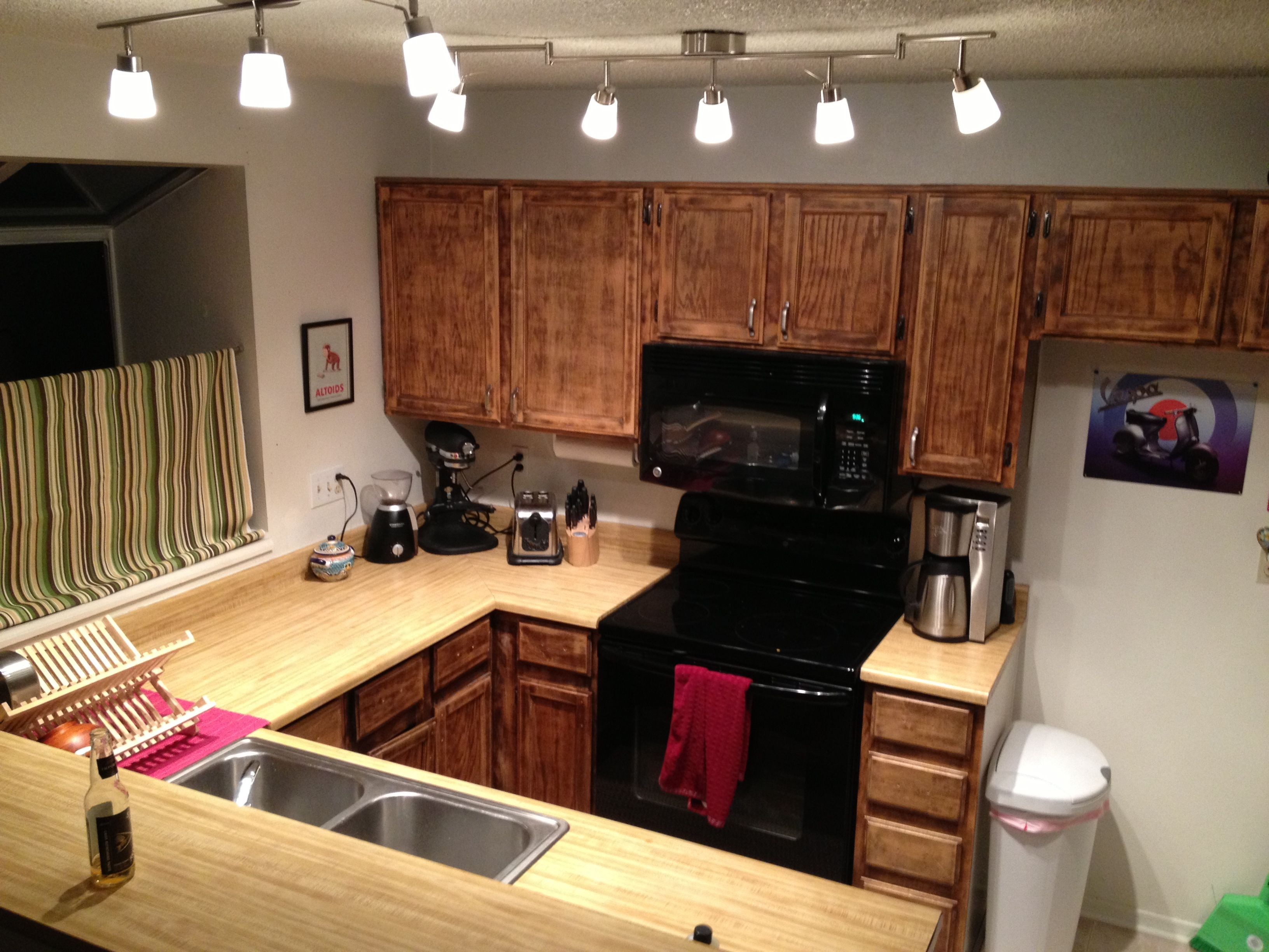 ikea lighting kitchen. Swapped Out My Kitchen Lighting For Ikea Lighting. The 5 Light Set Is Tidig