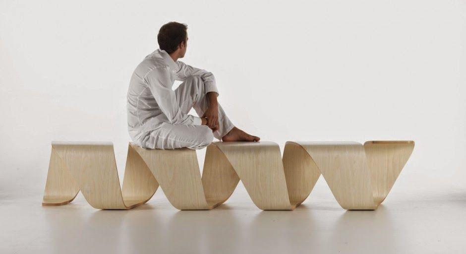 Mueble de dise o inspirado en adn en madera contrachapada - Diseno de muebles de madera ...