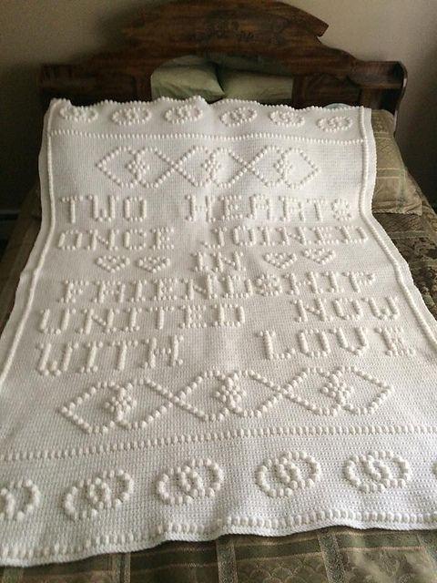 Wedding Afghan Crochet Pattern : wedding, afghan, crochet, pattern, Hearts, Joined, Rings, Afghan, Crochet, Patterns,, Wedding, Bobble, Stitch