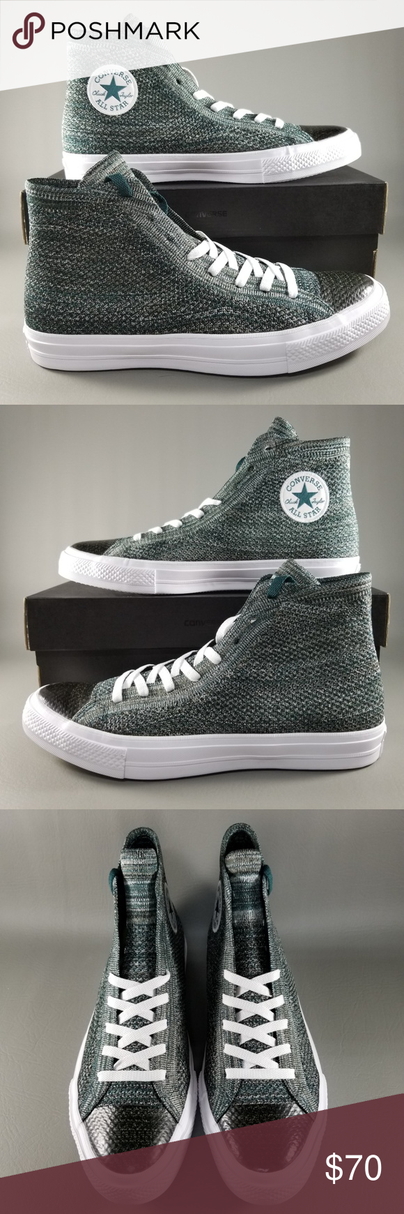 c4dbbbb73591 Converse CTAS X Nike Flyknit Mens Shoe SZ 10 Green Converse Chuck Taylor  All Star X