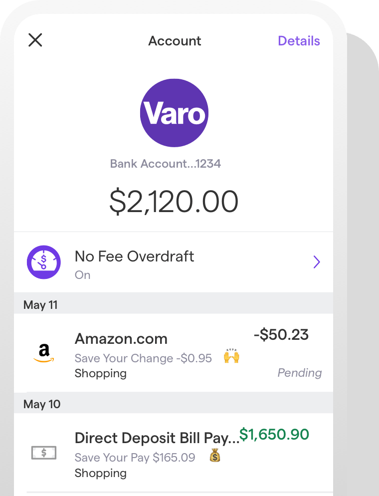 Varo Banking October 2019 Paying Bills Online Banking Visa Debit Card