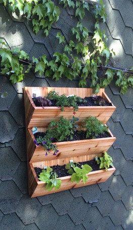 Vertical planter planter box flower planter flower box for Vertical planter boxes
