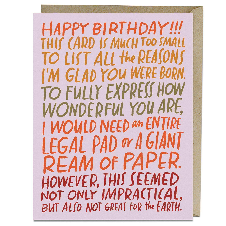 Ream Of Paper Birthday Card In 2021 Paper Birthday Cards Birthday Cards Birthday Card Sayings