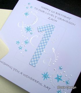 A first birthday card for your grandson hand made and can be a first birthday card for your grandson hand made and can be personalised on the bookmarktalkfo Images