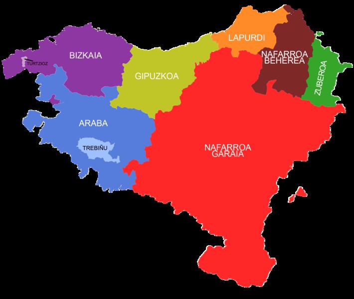 Mapa Euskal Herria Pueblos.Pin On Eta