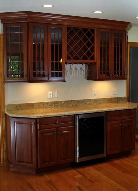 Love The Rounded Corners And Corner Cabinets Beverage