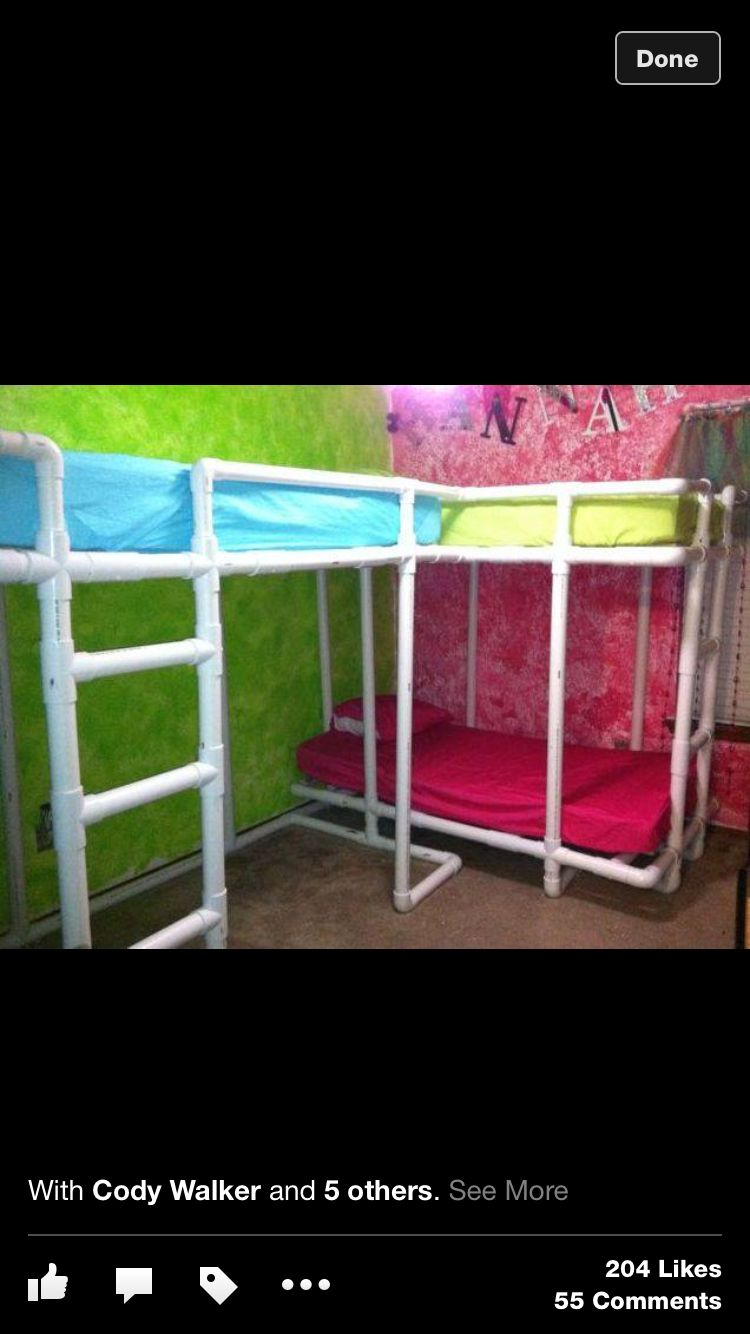 Pvc Bunk Beds Helpful Hints Pvc Pipe Projects Pvc Pipe Pvc