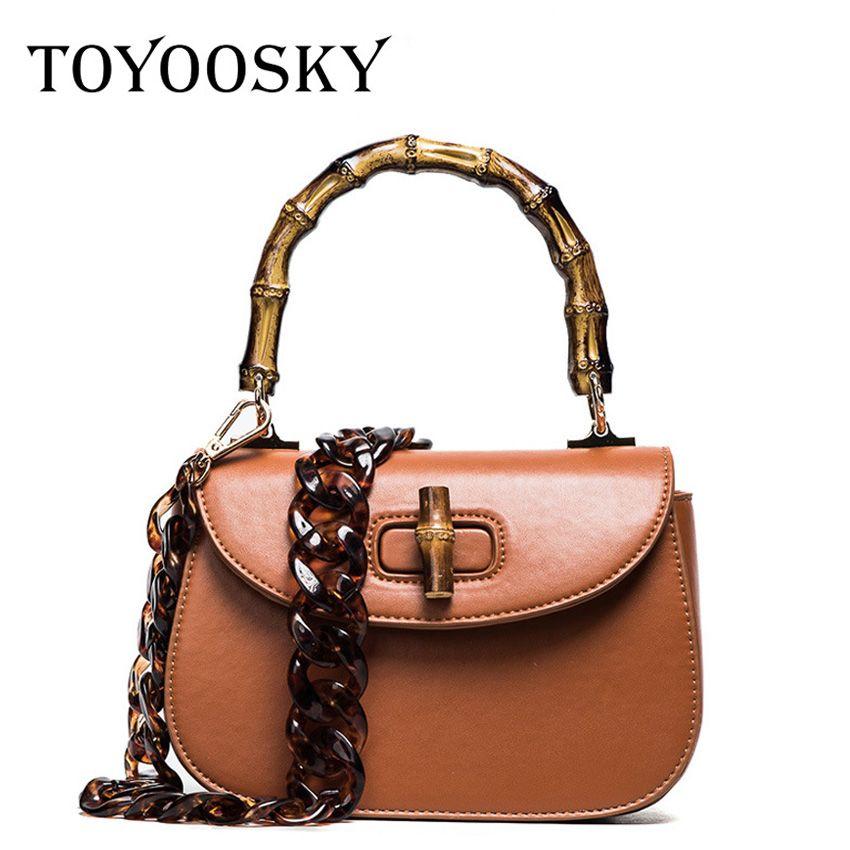 63570d67b9 TOYOOSKY Moda estilo clássico saco de bambu saco de lidar com bolsa das  senhoras das mulheres