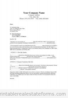 Sample Printable Note Purchase Offer In Leiu Of Short Sale Form