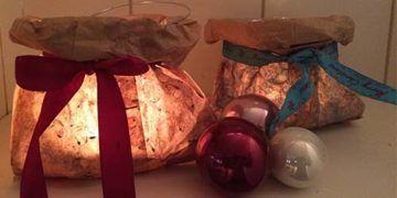 Lichtjes maken van een papieren zak