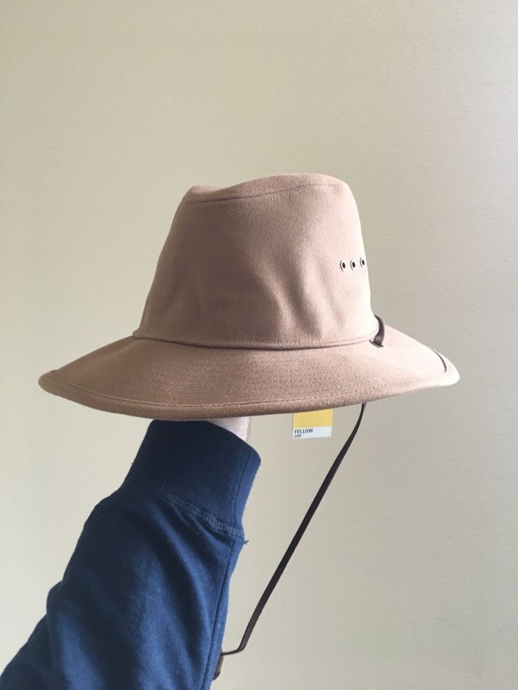 NWT Yellow 108 Helm Safari Outdoor Cotton Canvas Brown Tan Hat Large   fashion  clothing  shoes  accessories  mensaccessories  hats (ebay link) c2dd60876784