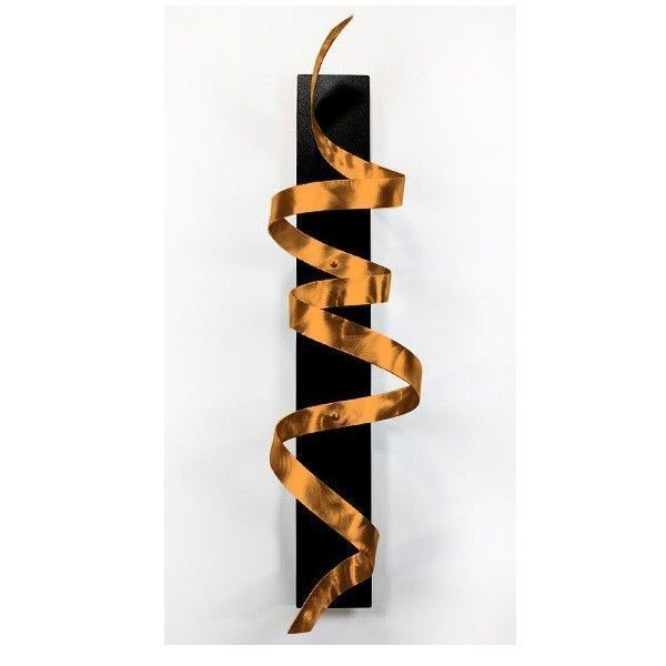 Modern Abstract Metal Wall Art Home Decor Sculpture - Copper ...