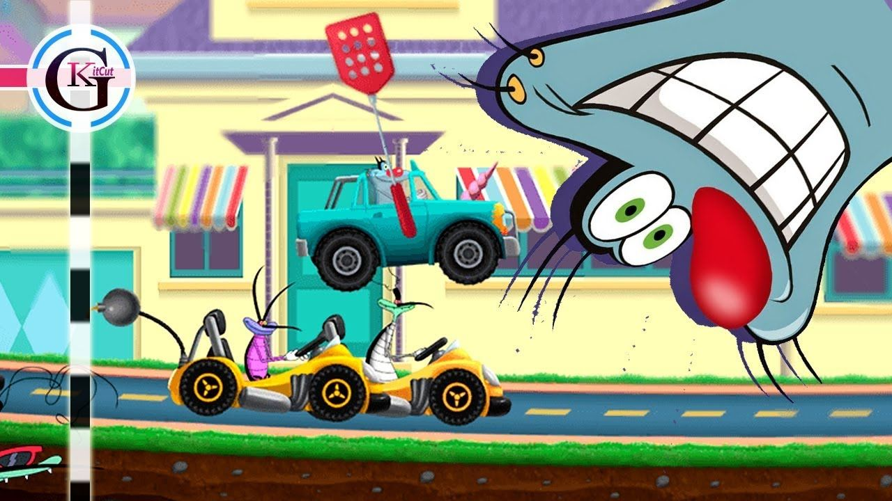 Oggy And The Cockroaches Cartoon Game For Kids Super Speed Racing Naz Cartoon Games Games For Kids Cartoon