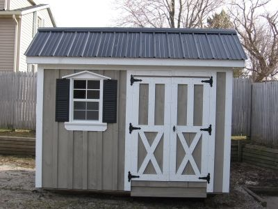 Saltbox Shed Shown In 8x10 With Metal Roof She Sheds