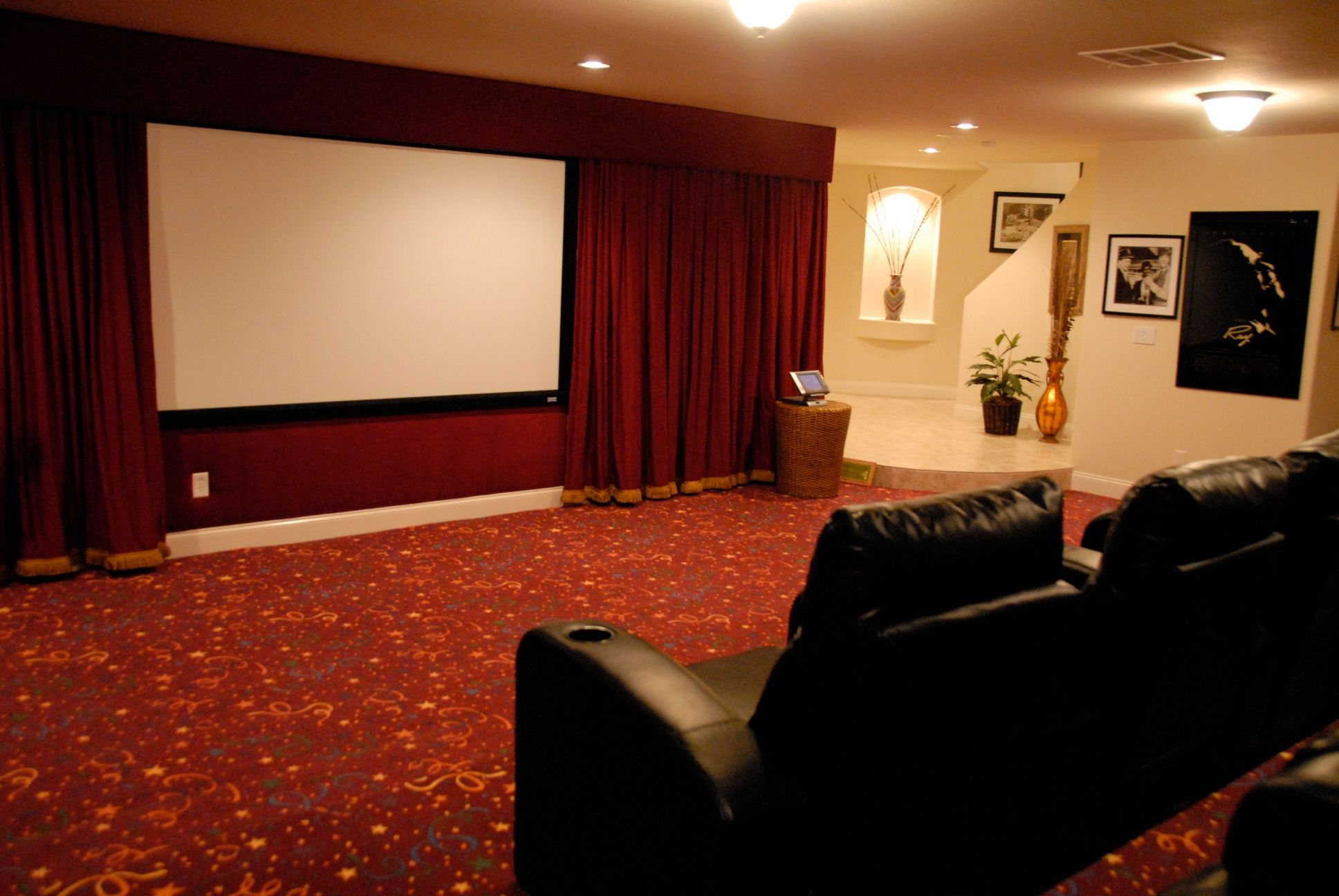 Movie Rooms With Curtains Decorations Sophisticated