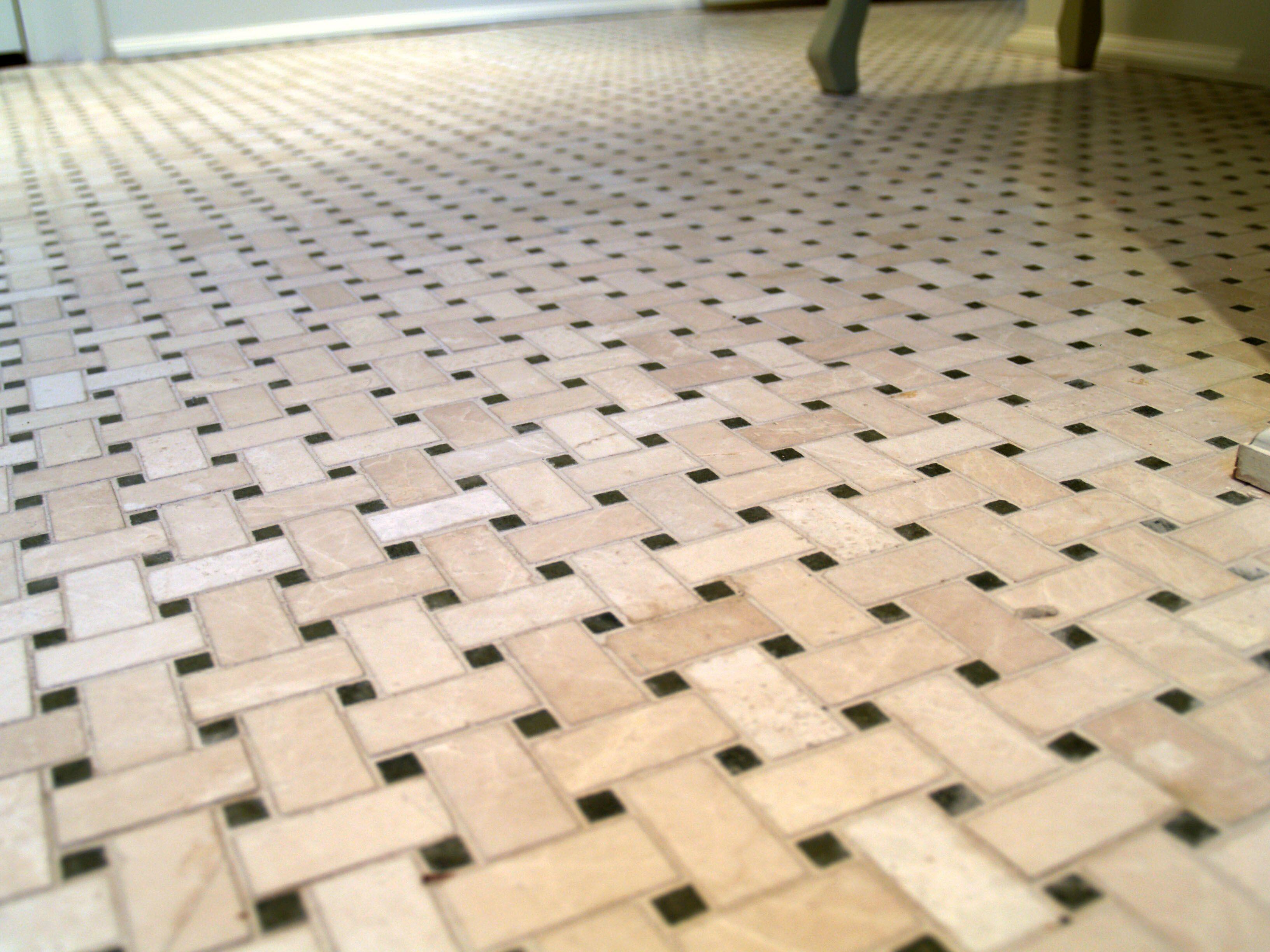 Marble Basketweave Powder Room Floor Room Flooring Powder Room House Design