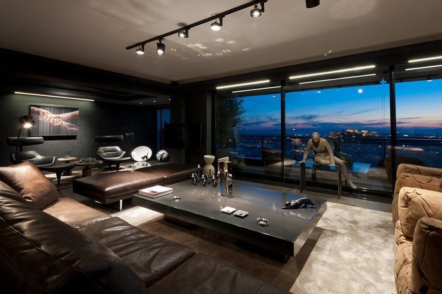 A Bachelor Pad Fit For James Bond With Images Men S Bedroom