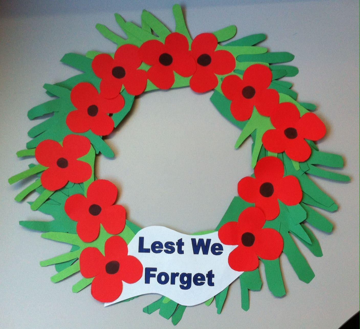 Anzac Day Wreath Lest We Forget Anzac Day Art Pinterest