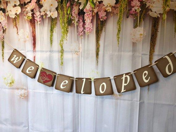 Engaged banner-Wedding Photo prop-Engagement photo prop Engagement party WE DECIDED on FOREVER Banner Wedding Decoration-Wedding Banner