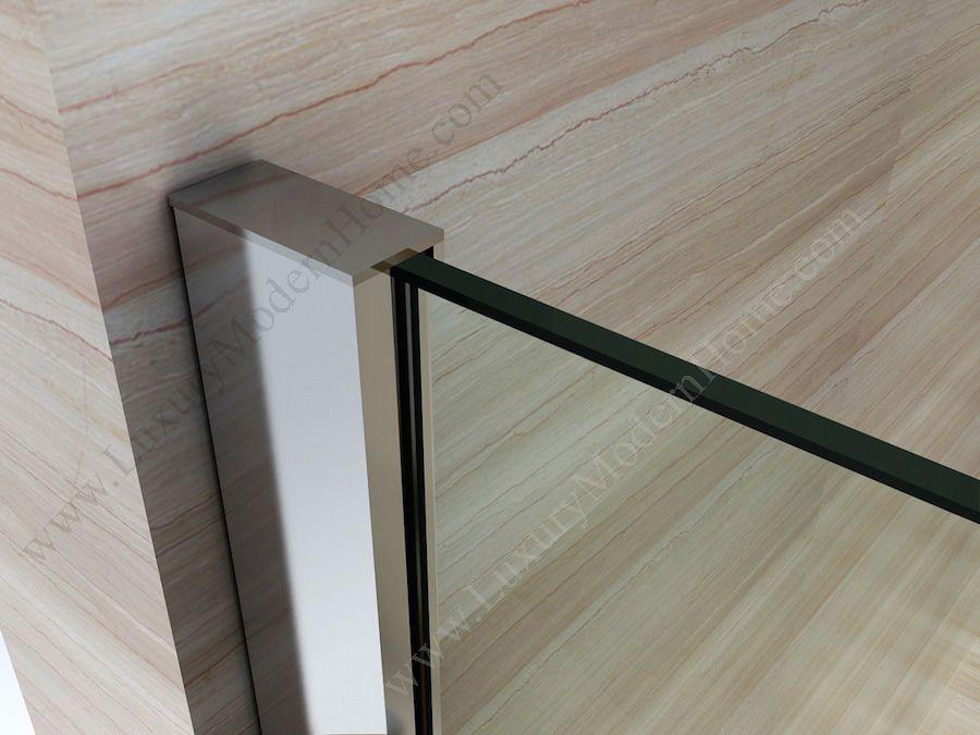 Priscus Frameless Glass Sliding Door Bathtub Modern Frameless