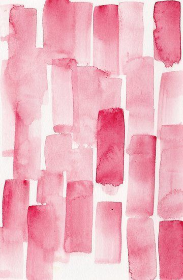 'Pink Watercolour Patterns | 190129 Abstract Art Watercolour ' Poster by valourineart