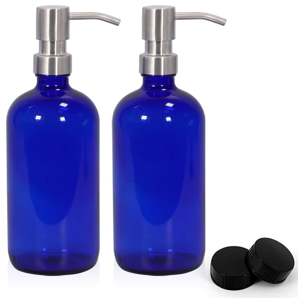 Glass Spray Bottles Empty 16oz Boston Round Bottle Refillable Container For Essential Oils With Funnel Lables Cle In 2020 Glass Spray Bottle Liquid Soap Essential Oils