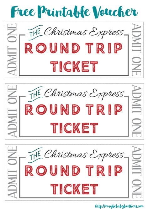 The Christmas Lights Express Free Printable \u0027Tickets\u0027 For the Kids