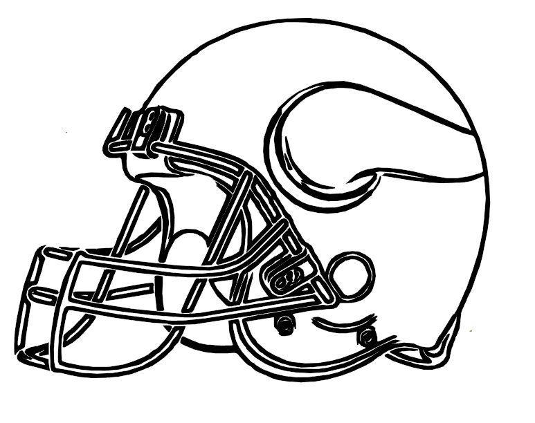 Football Helmet Vikings Minnesota Coloring Pages