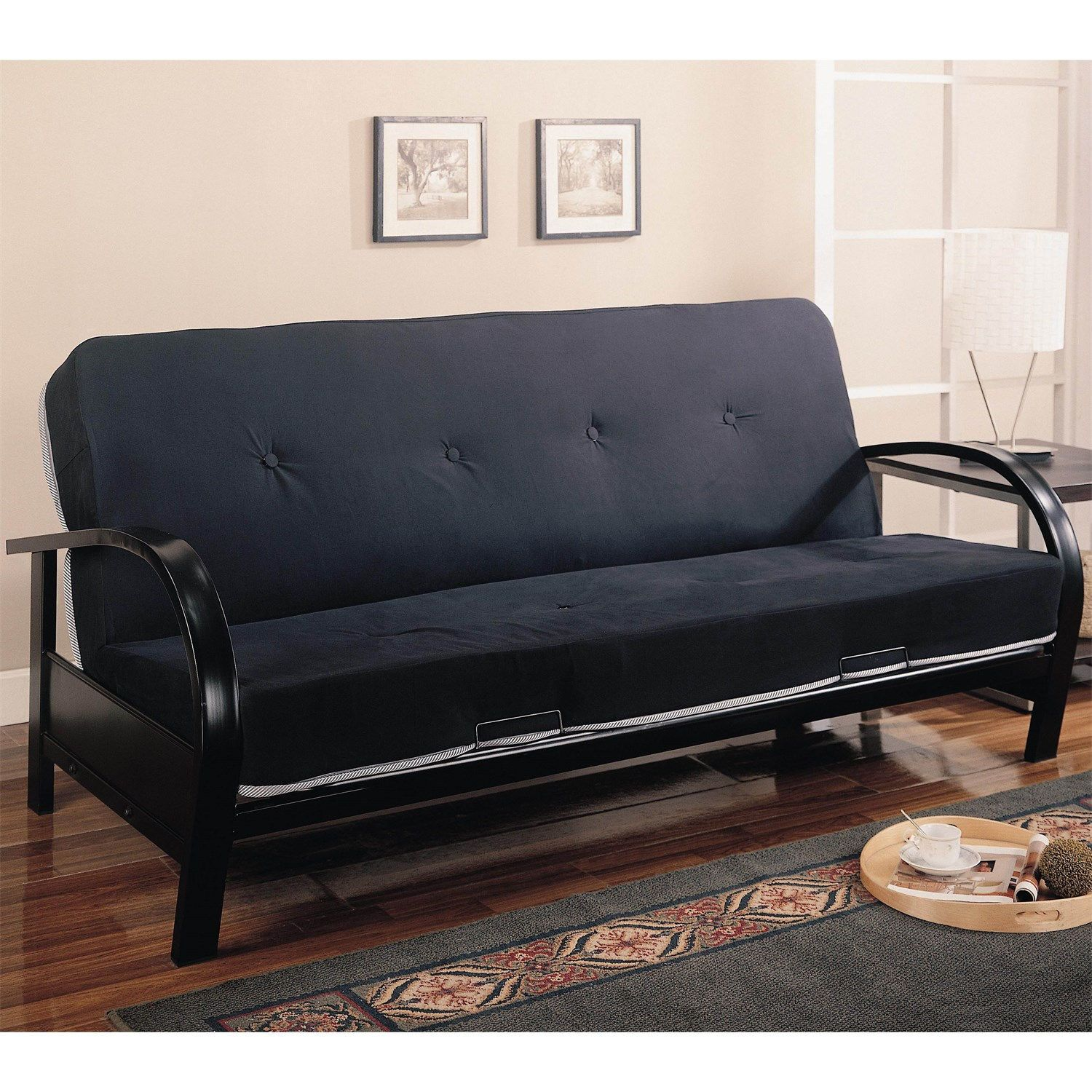 futons wood frame westfield dining metal size nirvana com dp nowful full kitchen black amazon futon