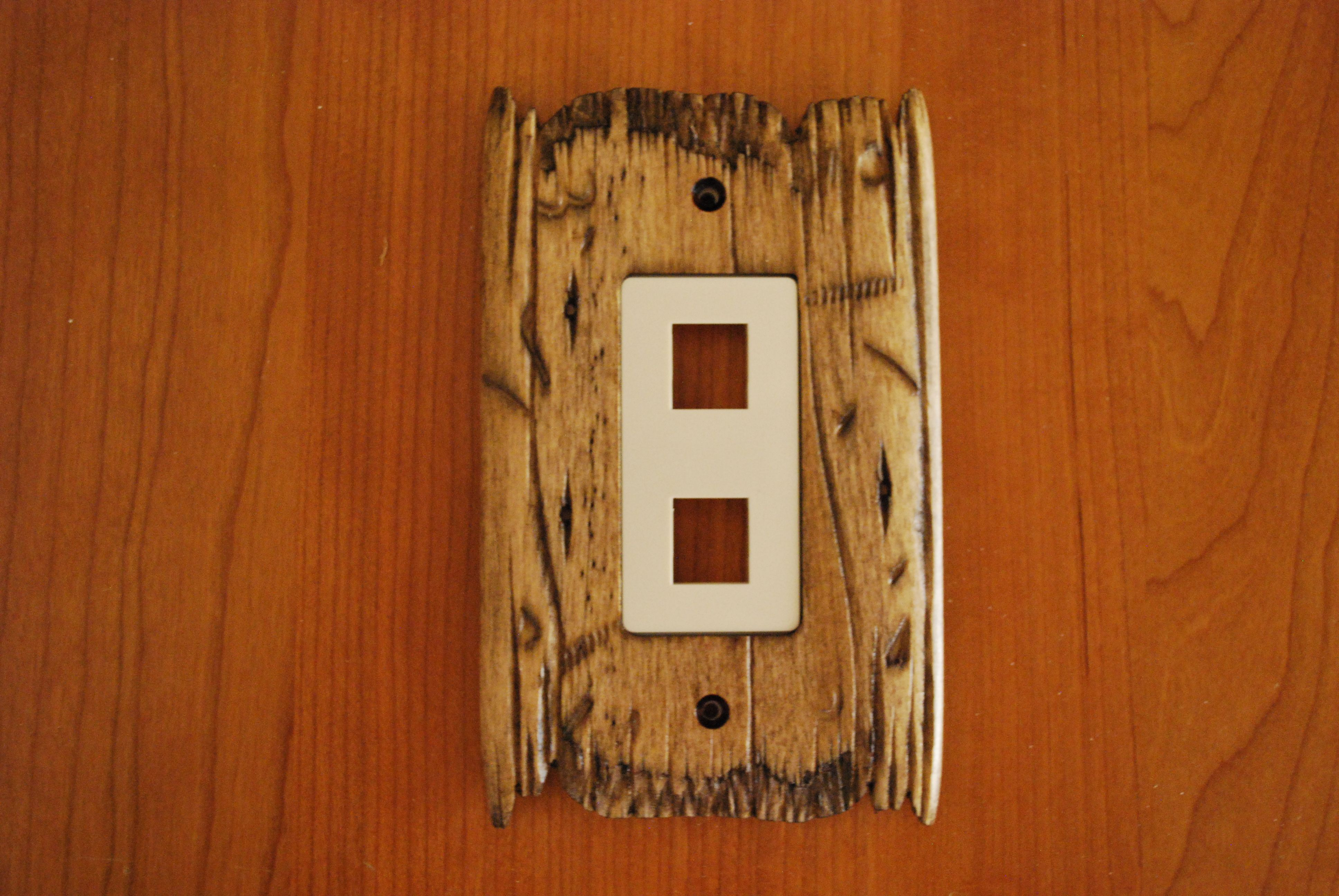 Rustic Switch Plate Old West Style Data Plate In Color Rustic
