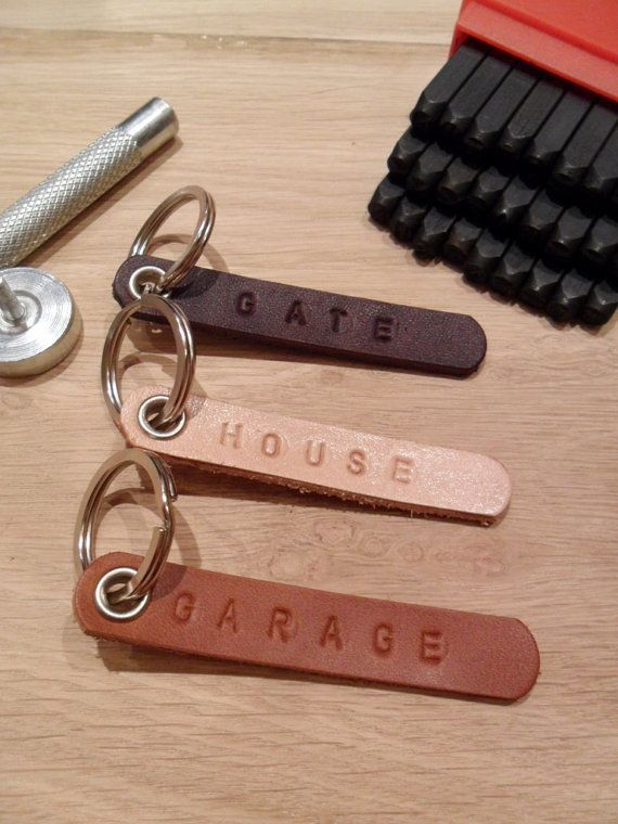 Personalized leather keyholder