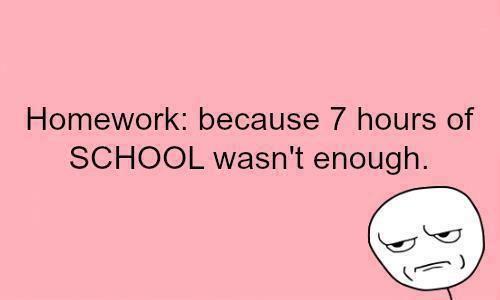 funny anti homework quotes
