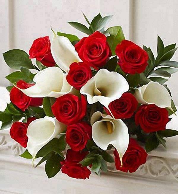 Les Fleurs En Rouge E T Blanc Mariage