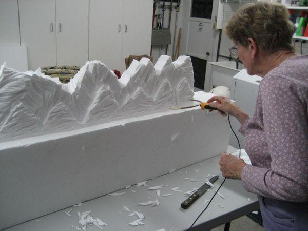 Styrofoam village displays hot wire foam factory foam
